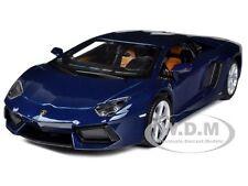 Lamborghini Aventador Lp700-4 Blue 1/24 Diecast Car Model By Maisto 31210