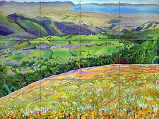 Contemporary Art Figueroa Mountain Mural Ceramic Backsplash Bath Tile #2459