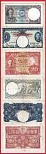 Nice KGVI Lot of 3 notes: 1941 Malaya 20c & Malaya $1, 1949 Ceylon 1 Rupee