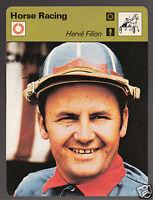HERVE FILION Hervé Jockey Horse Racing 1978 SPORTSCASTER CARD 24-19B