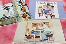 Saturday Evening Post Norman Rockwell 12 Month Calendars '06, '07, '14, Set of 3