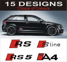 Audi S3 S4 S5 S6 A3 A4 A5 A6 S-Line S line Aufkleber