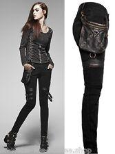 Punk Rave Jeans Hose Kunst-Leder Tasche Gothic Skinny Bag Pants Steampunk K207