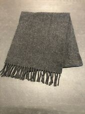 Altea Exclusively For Nordstroms 100% Virgin Wool Dark Gray Neck Scarf Fringe