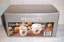 Noritake Epoch Collection E801 MARKET DAY Sugar Bowl and Creamer NEW SEALED