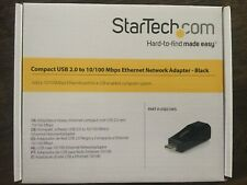 USB2106S Startech Compact Black USB 2.0 to 10/100 Mbps Ethernet Network Adaptor