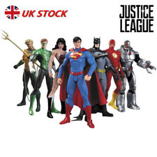 UK Justice League Action Figures Wonder Women Superman Flash Cyborg 7Pcs/Set