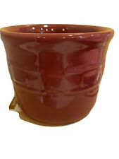 Longaberger Pint Pottery Crock In Paprika Red Never Used In Original Box