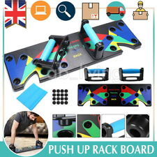 9 in1 Push Up Rack Board Fitness Workout Train Gym Exercise Pushup Stands UK NEW