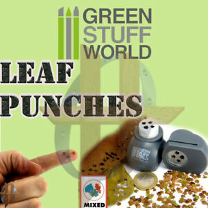 Green Stuff World Leaf Punch - Miniature Leaves from 1:16 -1:80 Scale