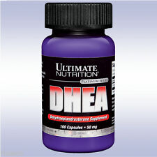 ULTIMATE NUTRITION DHEA 50 MG (100 CAPSULES) dehydroeplandrosterone, anti-aging