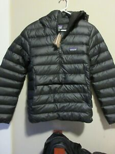 Mens New Patagonia Down Sweater Hoody Pullover Jacket Size Small Color Black