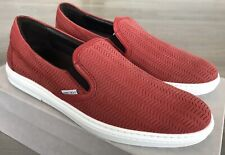 750$ Jimmy Choo Grove Ultra Red Leather Slip on Shoes size US 8.5, Made in Italy