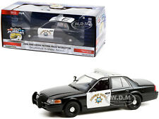 "2008 FORD CROWN POLICE CHP ""CALIFORNIA HIGHWAY PATROL"" 1/24 CAR GREENLIGHT 85523"