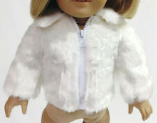 White Fur Jacket Coat made for 18 inch American Girl Doll Clothes
