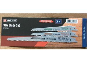 Parkside Sabre Sawblade Set PFSZ 3 A1 Wood / Plastic New 2021 Lidl 1st Class