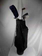 12 PC SPALDING Black Golf Bag Ping Tour Model Fortified Titleist Mitsubishi