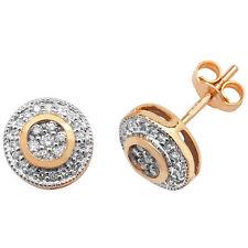 Diamond Earrings Yellow Gold 0.25ctw Cluster Studs Appraisal Certificate