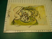 Original ROSE SUSLOVICH ART - yellow flowers drooping on paper/board , unsigned