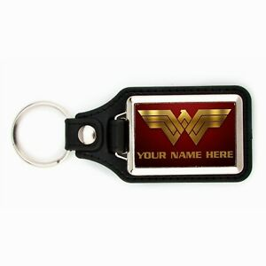 PERSONALIZED WONDER WOMAN KEYCHAIN YOUR NAME HERE KEY CHAIN RING WONDER-WOMAN DC