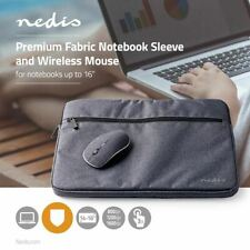 "Nedis Notebook Sleeve 15 to 16"" 1600 dpi Mouse 210D Polyester Black"