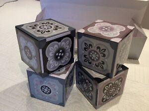 Metal Storage 4  Box Set Retro Tile Design