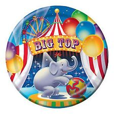Circus Big Top Party Supplies - Party Dinner Plates 8pk 22cm - Elephant