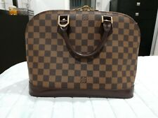 2 items  Louis Vuitton Damier Ebene Alma Handbag N51131  Authentic match  wallet 0ae16e78002a7