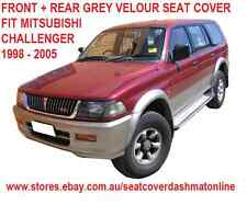FRONT+REAR GREY VELOUR SEAT COVER MITSUBISHI CHALLENGER PA 1998 - 2005, GREY