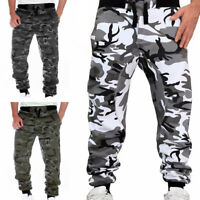Mens Military Combat Trousers Harem Camouflage Cargo Pants Camo Army Sweatpants