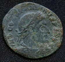 Ancient Roman Coin Emperor Head with Wreath / Figure Holding Objects 20-22 mm