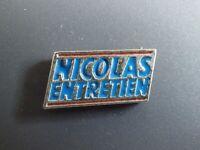 Pin's vintage épinglette Collector pins Nicolas entretien Lot E198