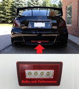 Clear Lens F1 LED Rear Fog Brake Backup Reverse Light Fits 2012+ Subaru WRX/STi