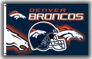 DENVER BRONCOS 3'X5' NFL FLAG BANNER: FAST FREE SHIPPING