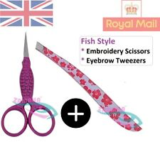 Embroidery Scissors - Fish Embroidery Scissors - Fish Eyebrow Tweezers UK-CE