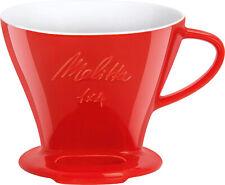 Melitta 219032 Porzellan Kaffeefilter Kaffee Filter Filtertüten Größe 1x4 Rot