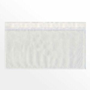 100 x Lieferschein Dokumententaschen Begleitpapiertaschen Transparent DIN Lang