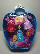 Polly Pocket MagiClip Cinderella Disney Princess 3 Clip Gowns Fairytale Fashion
