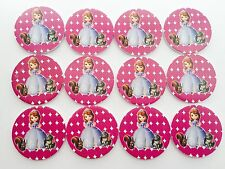 12pcs Disney Sofia The First Cupcake Food TOPPER. Party Supplies Lolly Loot Bag