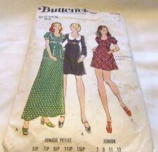 Vintage Original 70's/Junior Petite Dresses Butterick Sewing Pattern Size 18 Cut