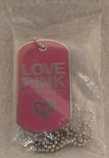 VICTORIA'S SECRET LOVE PINK VIP DOG TAG NECKLACE NEW