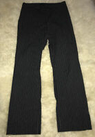 The Limited  Dress Pants Womens Black White Pin Stripe Stretch Flare Size 6