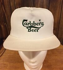 CARLSBERG BEER HAT CAP HAT RARE WHEN BUDWEISER WERE THE IMPORTER FOR CARLSBERG