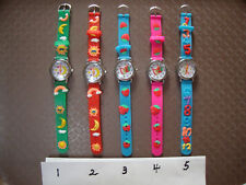 Kid's Theme (fruit, number, moon) Analogue Silicone Band watch BRAND NEW 5Styles