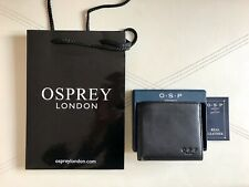 OSPREY Black Genuine Leather Wallet - NEW in Box w. Osprey Bag