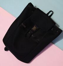 New Women's Korean Chic Black Clasp Closure Backpack
