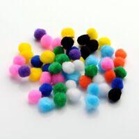 100 Pompons 10mm multicolores - Mini Pom poms 1cm boules balles Craft DIY