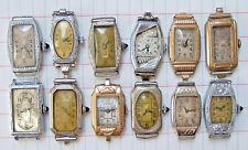 12 Vintage Ladies Art Deco Watch Lot Bulova Gruen Benrus Tavannes Repair Parts