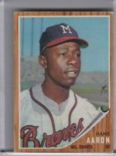 1962 TOPPS #320 HANK AARON MILWAUKEE BRAVES HOF 6228