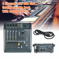 110V 180W RMS 4Channel Powered Mixer Power Mixing Amplifier W/USB Slot Amp 16DSP